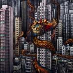 pintura, digital, diseño, arte, Dragones, Hong Kong, photoshop