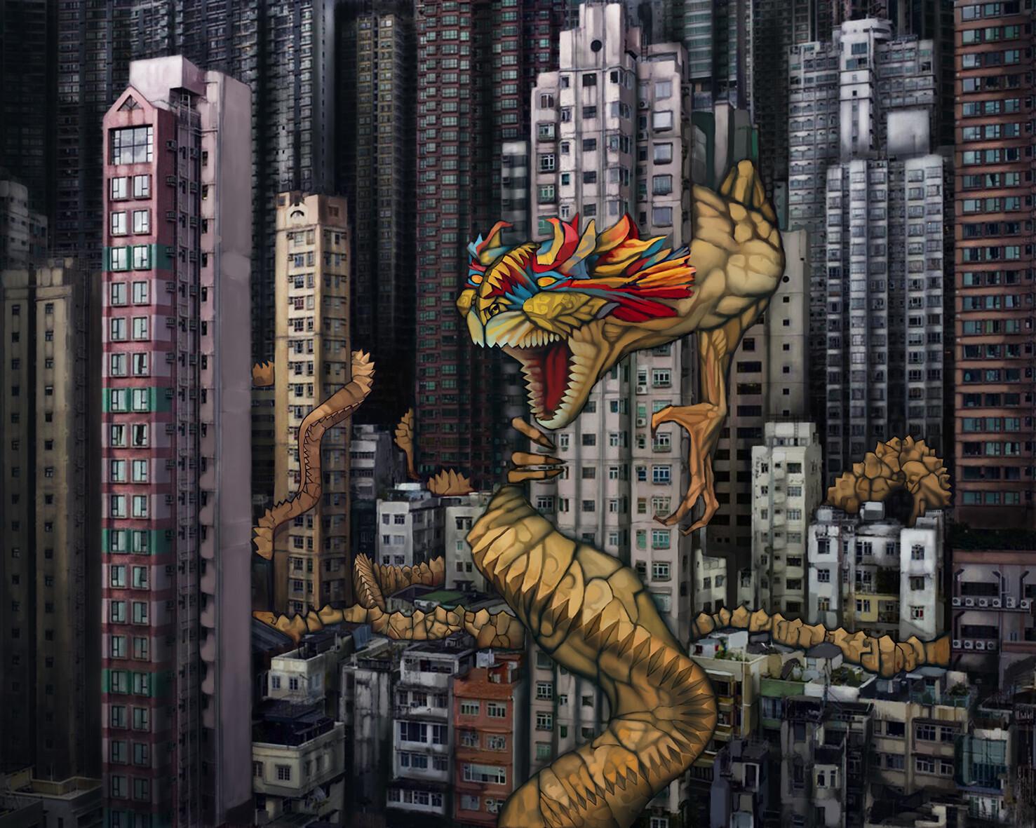 EL DRAGÓN SOBRE EL CIELO DE HONG KONG